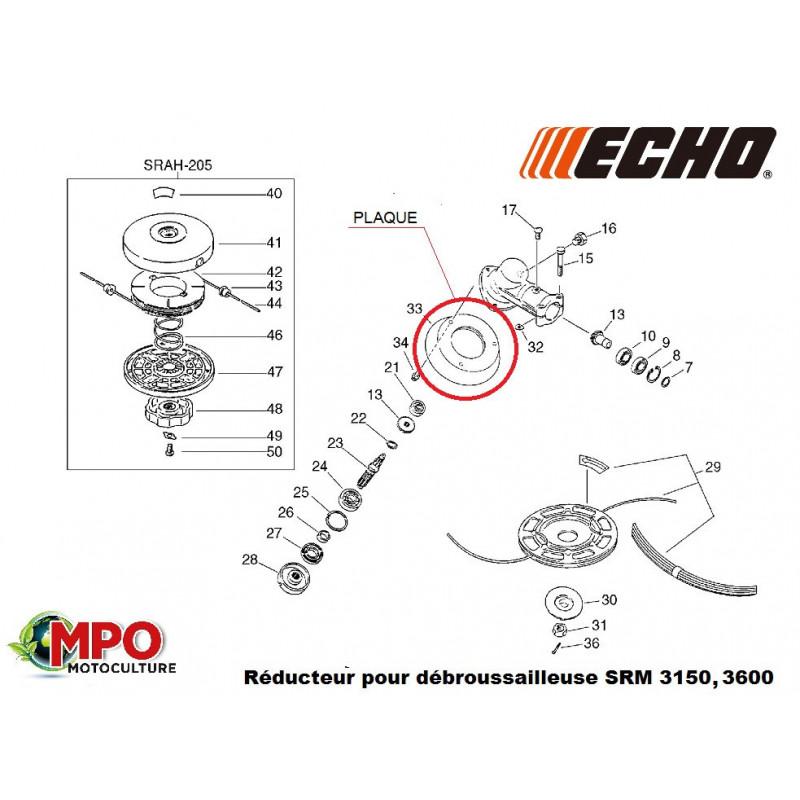 Plaque réducteur ECHO SRM 3150, 3600 - Pièce d'origine