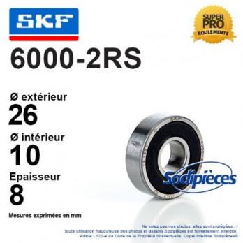Roulement à billes 600-2RS SKF / Double étanchéité