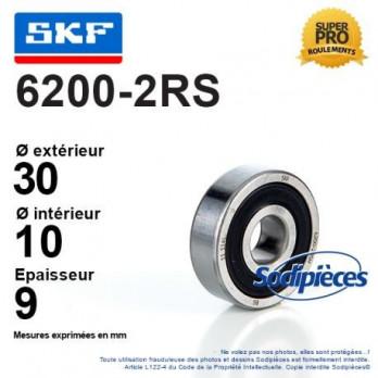 Roulement à billes 6200-2RS SKF / Double étanchéité