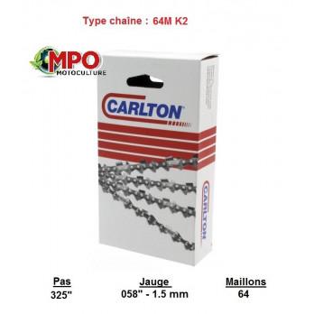 """Chaîne tronçonneuse CARLTON 325""""LP - 1.5 - 64 maillons"""