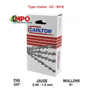 "Chaîne tronçonneuse CARLTON 325"" - 1.5 - 81 maillons"
