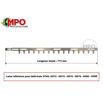 Lame inférieure pour taille-haie Stihl HS72, HS74, HS75, HS76, HS80, HS85