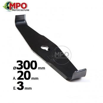 Lame droite spéciale ronce ø 300 mm / Al 20 mm / Ep 4 mm