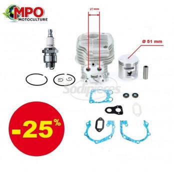 Cylindre-Piston pour Husqvarna-Partner K750 découpeuse Ø 51 mm
