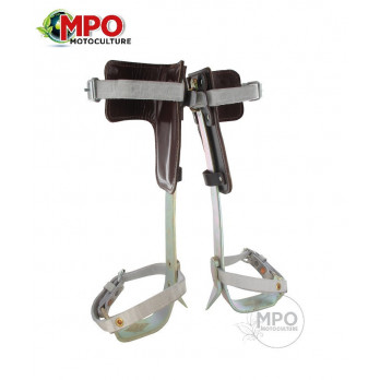 Grimpettte élagueur en acier forgé avec pointe usinée interchangeable,