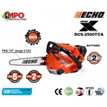 """ECHO Tronçonneuse élagueuse DCS 2500 TCA en 1/4 + 2 batteries + 2 chaînes d'origine """"PROMO"""""""