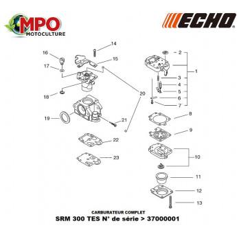 Carburateur complet ECHO SRM 300 TES