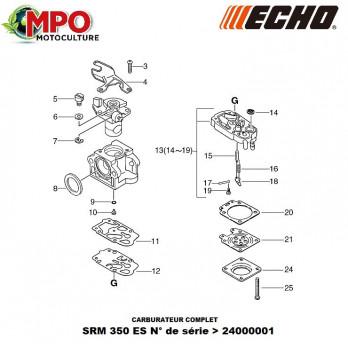Carburateur complet ECHO SRM 350 ES