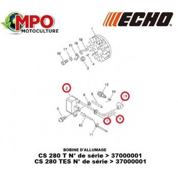 """Bobine d'allumage ECHO pour CS 280T """"ORIGINE"""""""