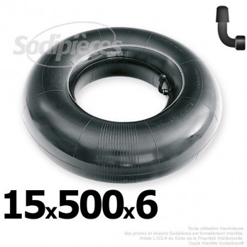 Chambre à air 15 x 500 x 6 (valve coudée)
