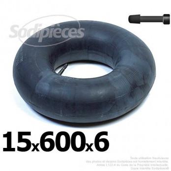 Chambre à air 15 x 600 x 6 (valve droite)