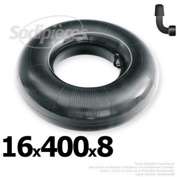 Chambre à air 16 x 400 x 8 (valve coudée)
