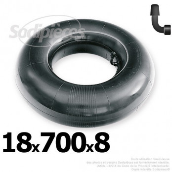 Chambre à air 18 x 700 x 8 (valve coudée)