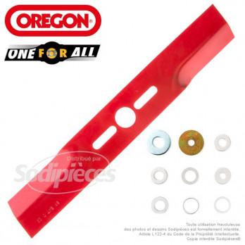 Lame universelle droite 37,5cm Orégon + rondelles